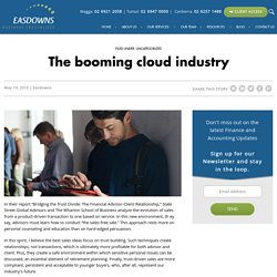 The booming cloud industry -