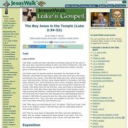 The Boy Jesus in the Temple (Luke 2:39-52)