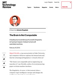 The Brain Is Not Computable
