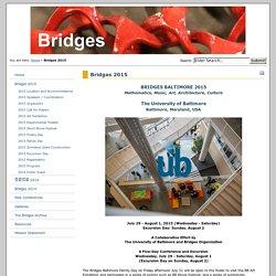 The Bridges Organization - Bridges 2015