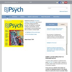 The British Journal of Psychiatry