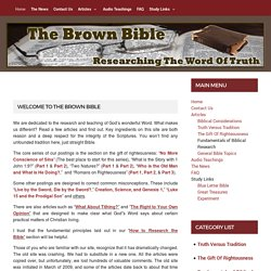 The Brown Bible