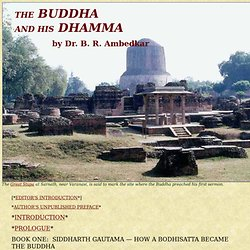 The Buddha and His Dhamma, by Dr. B. R. Ambedkar
