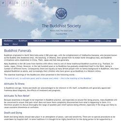 The Buddhist Society: Buddhist Funerals