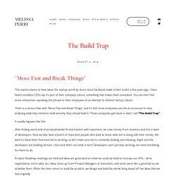 The Build Trap — Melissa Perri