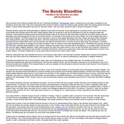 The Bundy Bloodline