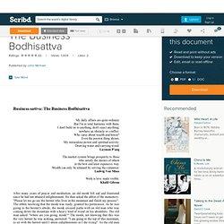 The Business Bodhisattva