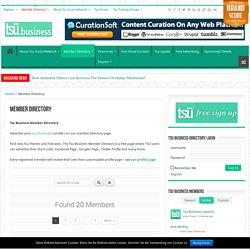 The Tsu Business Member Directory