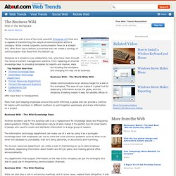 The Business Wiki - Wiki in the Workplace