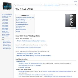 The C Series Wiki - SamyGO