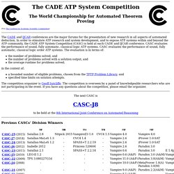 The CADE ATP System Competition