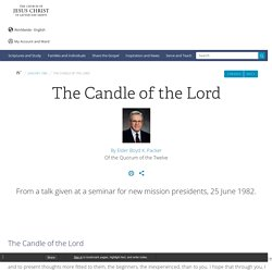 The Candle of the Lord - Ensign Jan. 1983