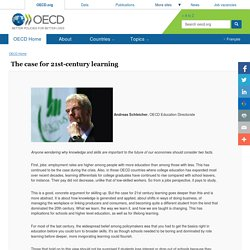 The case for 21st-century learning - OECD