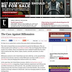 The Case Against Billionaires