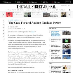 The Case For and Against Nuclear Power