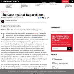 The Case against Reparations