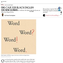 The Case for Black English