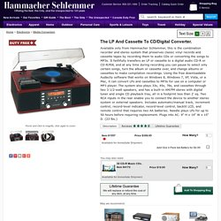 The LP And Cassette To CD/Digital Converter