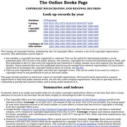 The Catalog of Copyright Entries