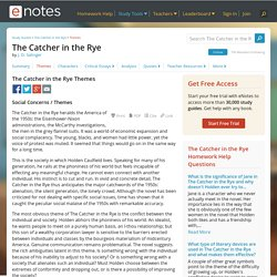 The Catcher in the Rye Themes