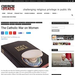 The Catholic War on Women