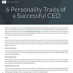 Personality Traits of a Successful CEO