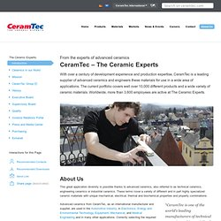 All about CeramTec: The Advanced Ceramic Experts