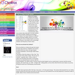 The 13 Chakra System | OneHealsOne