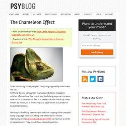 The Chameleon Effect