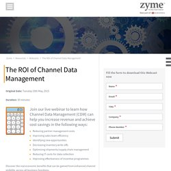 Increase Revenue and Cost Savings with Zyme's CDM