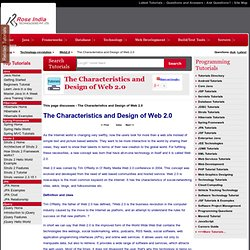 The Characteristics and Design of Web 2.0