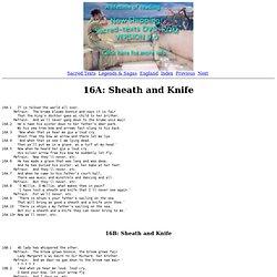 The Child Ballads: 16. Sheath and Knife