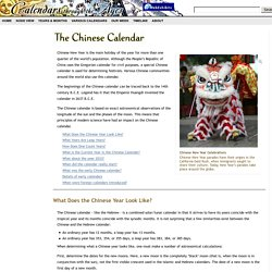 The Chinese Calendar