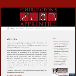 The Chirurgeon's Apprentice