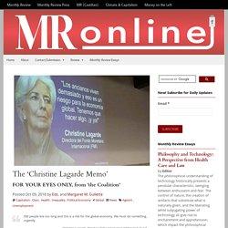 The 'Christine Lagarde Memo'