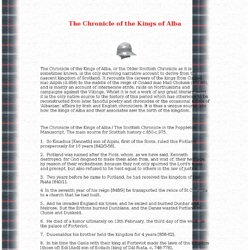 The Chronicle of the Kings of Alba