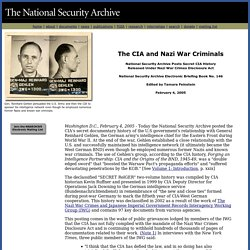The CIA and Nazi War Criminals