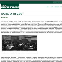 The Cine-Files » Teaching The 400 Blows