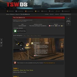 The City Before Us - TSW Database