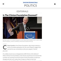 Is The Clinton Foundation Doomed?