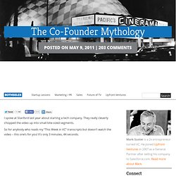 The Co-Founder Mythology