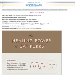 The College of Sound Healing - What is Sound Healing?