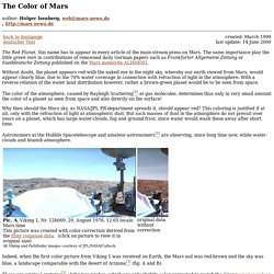 The Color of Mars