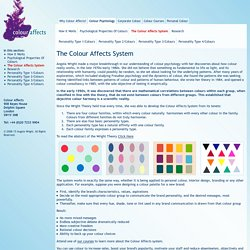 The Colour Affects System - Colour Affects