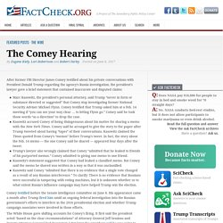 The Comey Hearing