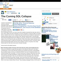 The Coming SQL Collapse