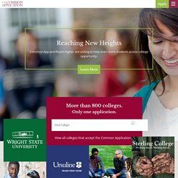 Welcome to the Common App!