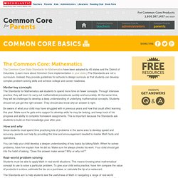 The Common Core: Mathematics