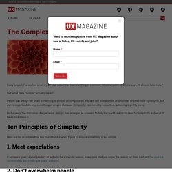The Complexity of Simplicity