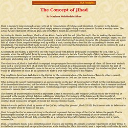 The Concept of Jihad